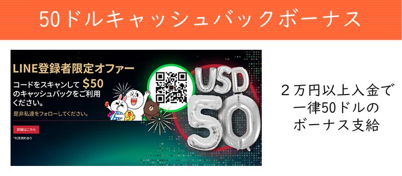 Anzo Capital Limitedの50ドルキャッシュバックボーナス