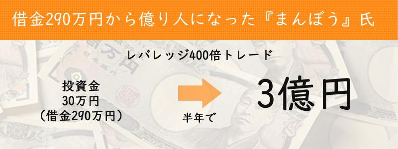 借金290万円から億り人になった『まんぼう』氏