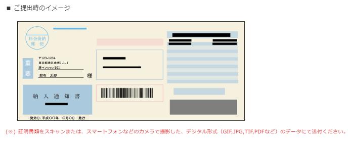 現住所確認資料の提出イメージ
