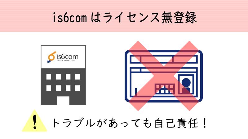 is6comは今のところライセンス登録がない