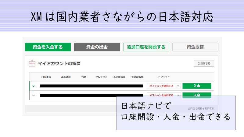 XMの日本語対応は国内業者さながら