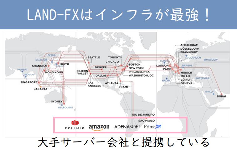 LAND-FXはインフラに注力していてサーバー環境が最強