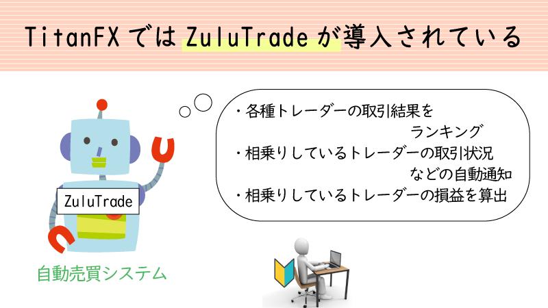 TitanFXはZuluTradeが利用できる