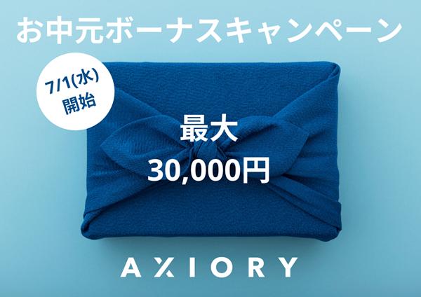 axioryの100%入金ボーナス
